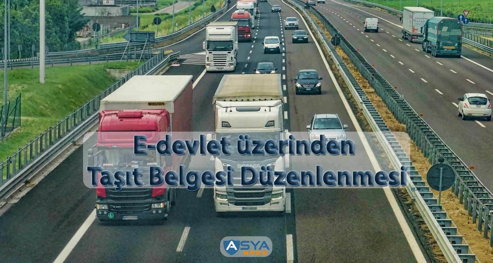 E-devlet üzerinden Taşıt Belgesi Düzenlenmesi yazısı kapak resmi